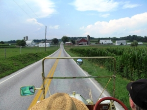 Campbell and Gil Fitzhugh cruising through Lancaster County in their 1909 E-M-F