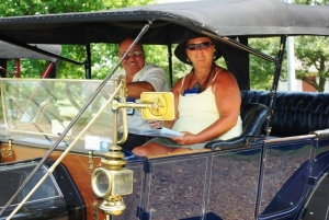 Steve and Darlene Bono on tour in their 1912 E-M-F