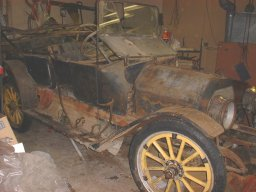 1912 EMF Demi Tonneu Before Restoration