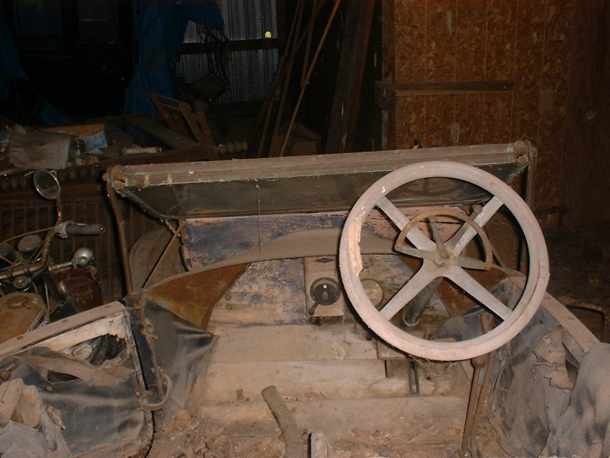 Steering wheel when found