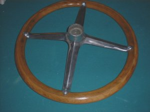 Bottom of finished steering wheel