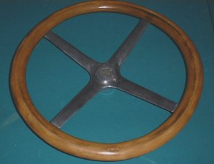 Top of finished steering wheel